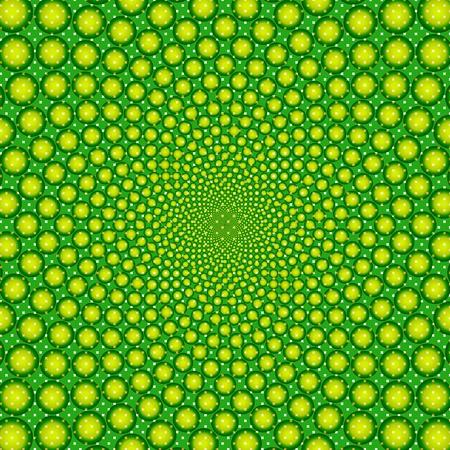 cyclic optical illusion-Vector EPS