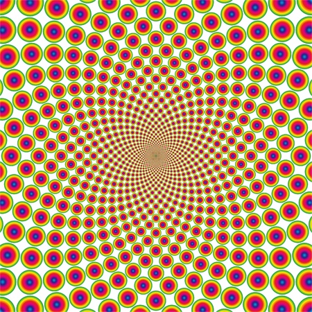 cyclic optical illusion Çizim