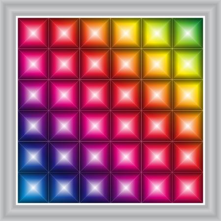 LED display background Illustration