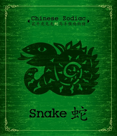 Chinese Zodiac - Snake Stock Vector - 13030982