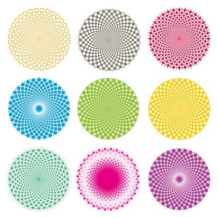 Optical illusion-Vector EPS Vectores