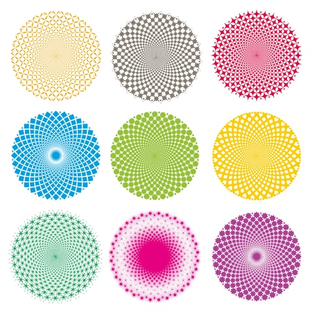 circle pattern: Optical illusion-Vector EPS Illustration