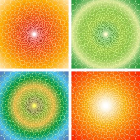 kaleidoscope: cyclic optical illusion- Illustration