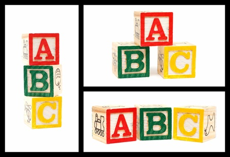 abc blocks: Wooden Alphabet Blocks-ABC