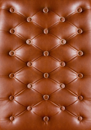 Closeup texture of vintage black leather sofa for background photo