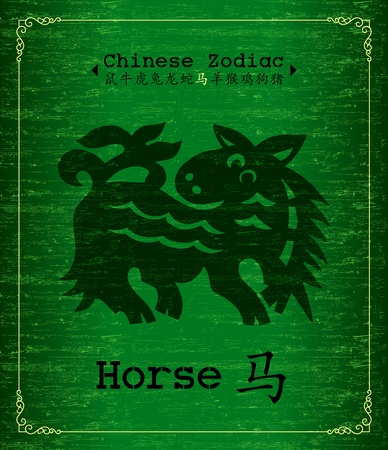 Chinese Zodiac-horse Vector