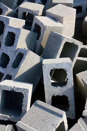 Cement bricks Stock Photo