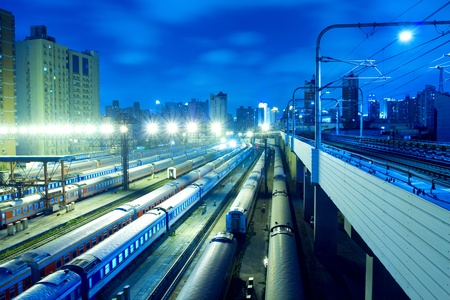 Night Train in Shanghai photo