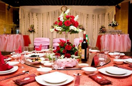 Hochzeitsessen Standard-Bild
