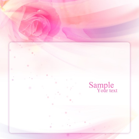Frame with rose layout Stock Photo - 13502311