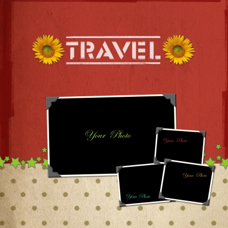 Travel concept scrapbook photo