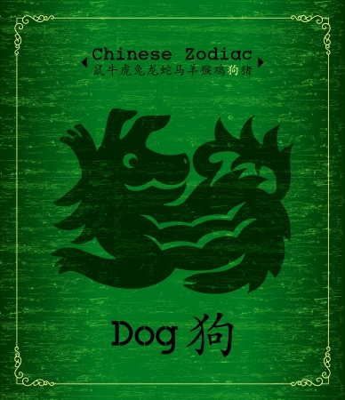Chinese Zodiac about Dog Vector