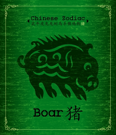 Chinese Zodiac about Boar Vector