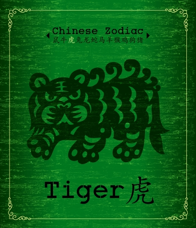Chinese Zodiac about tiger Vector
