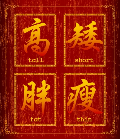 chinese writing: Chinese character symbol about  body type