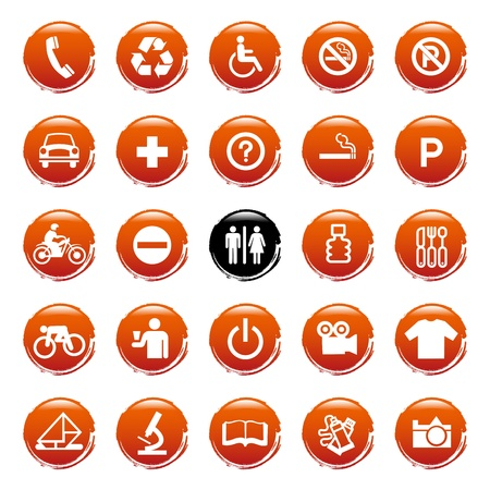 office buttons: Web icons