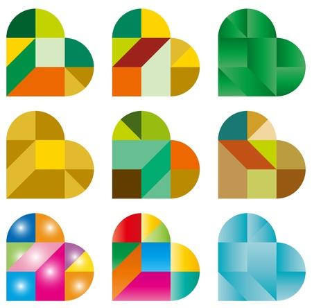 Heart Puzzle Vectores