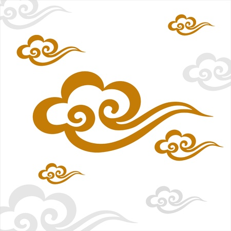 Chinese Cloud Vectores