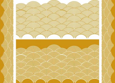 Auspicious golden wave Vector