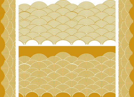 auspicious: Auspicious golden wave