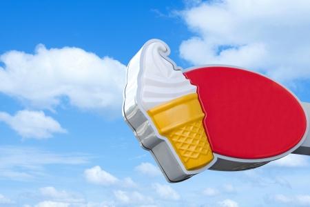 Crème glacée panneau Banque d'images