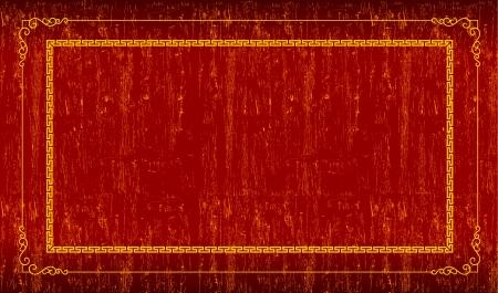 Red grunge frame Vector