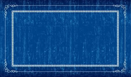 scratch card: Blue grunge frame