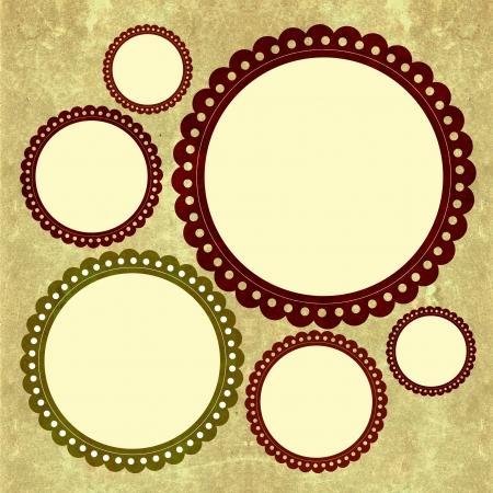 Round scrapbook s frame  photo