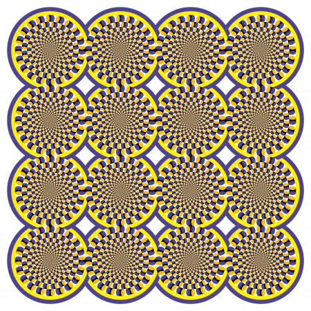 Optical illusion Spin Cycle Vector