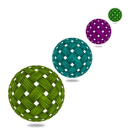 weave ball: Woven Wicker ball