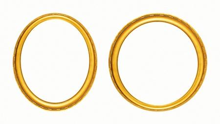 circular frame: Oval photo frame Clipping path