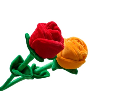 Fabric Roses Stock Photo - 15729610