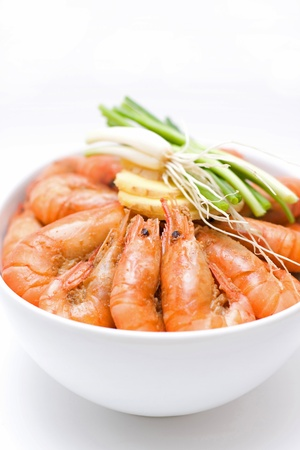 Delicious shrimps Stock Photo