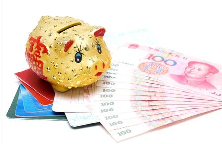 passbook: Piggy bank and passbook