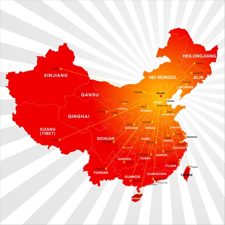 Vector China map Stock Vector - 16719031