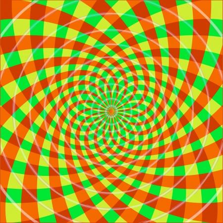 Cyclique illusion d'optique Illustration