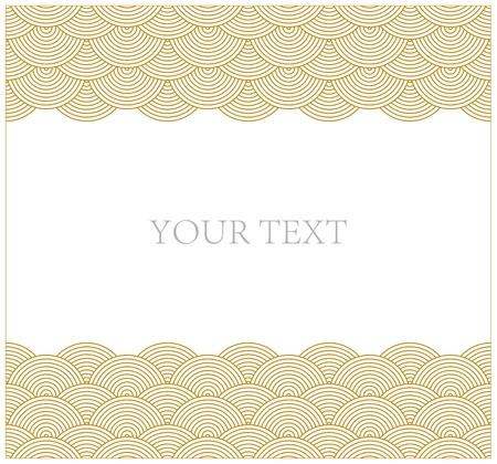 Oriental curve wave pattern frame