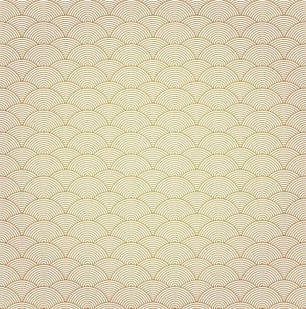 brown pattern: Oriental curve wave pattern background