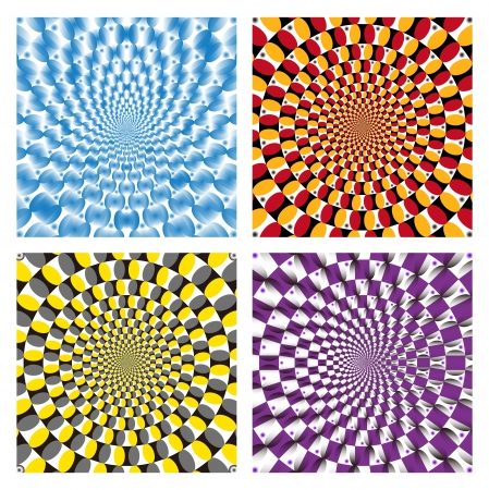 Optical illusion Spin Cycle set Vector