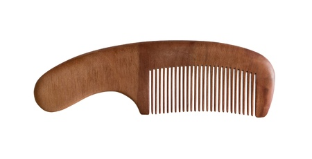 spa still life: Wood combs isolated