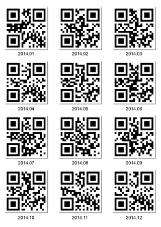 QR code about 2014 year Vector