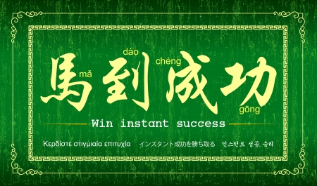 Year of the Horse  Achieve Immediate Success  Vector