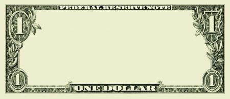 空白の 1 つのドル札