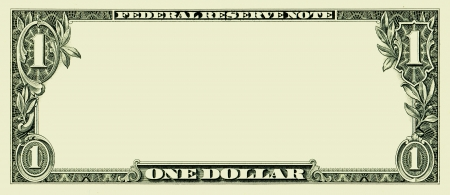 us dollar bill: Blank one dollar bill