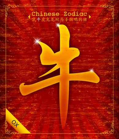 chinese new year celebration: Chinese Zodiac - Year of the Ox