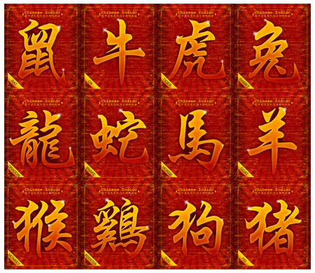 12 Chinese zodiac signs photo