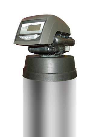 filtración: Filtro de agua para el agua potable con trazado de recorte Foto de archivo