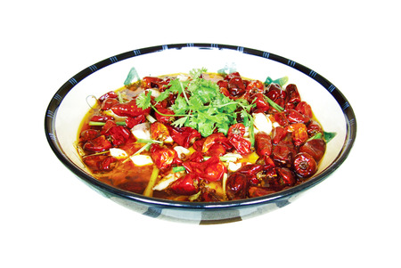 chilli sauce: Hot fish, chinese food Sichuan Cuisine