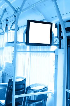 display advertising: Bus information screen  Stock Photo