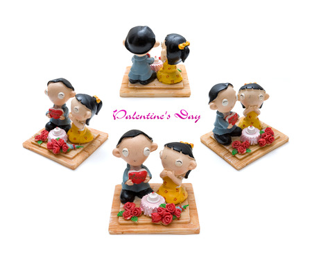 Couples doll made from plasticine photo